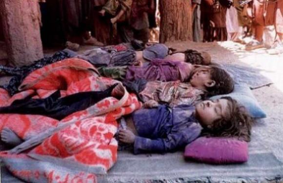 Afghanistan Victims of a February, 2012 US air strike that killed 8 children in Kapisa, Afghanistan.