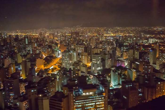 Sao Paulo Brazil at night