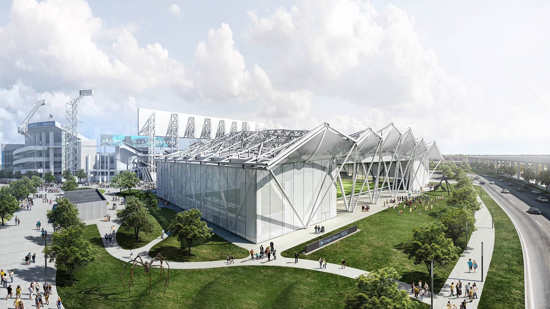 Jacksonville Jaguars Amphitheater And Flex Field POPULOUS