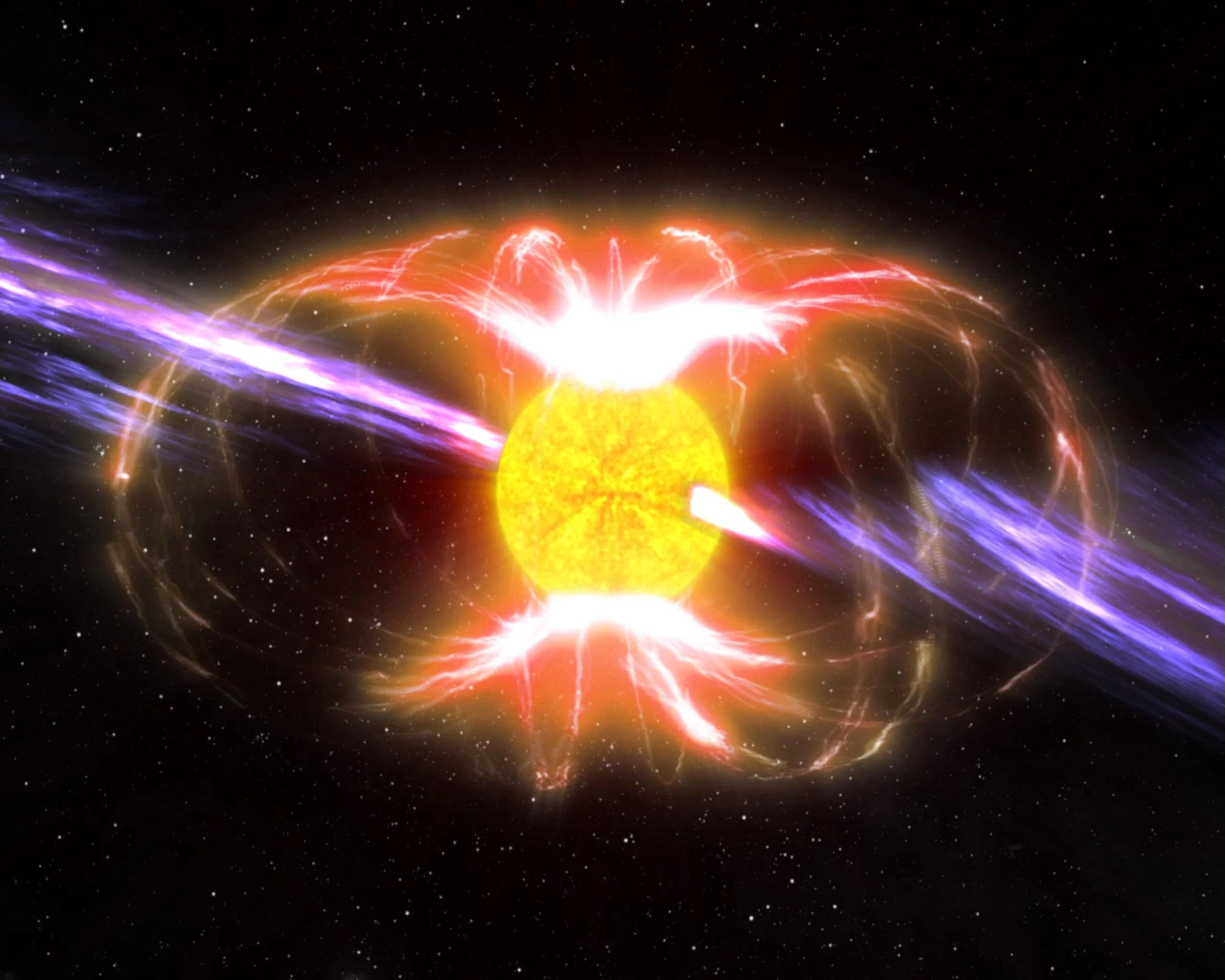 В центре Млечного Пути нашли мощнейший вращающийся магнит