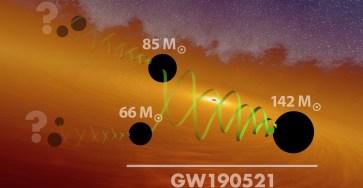 Астрономы обнаружили самое мощное слияние чёрных дыр
