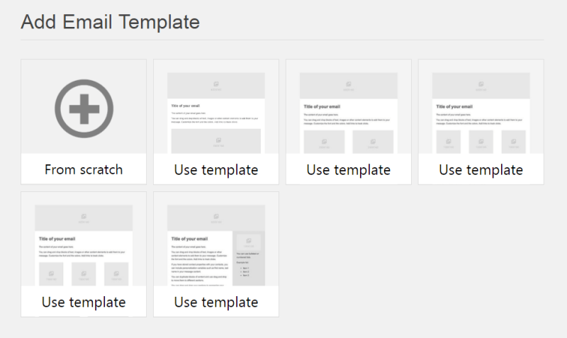 Add email template