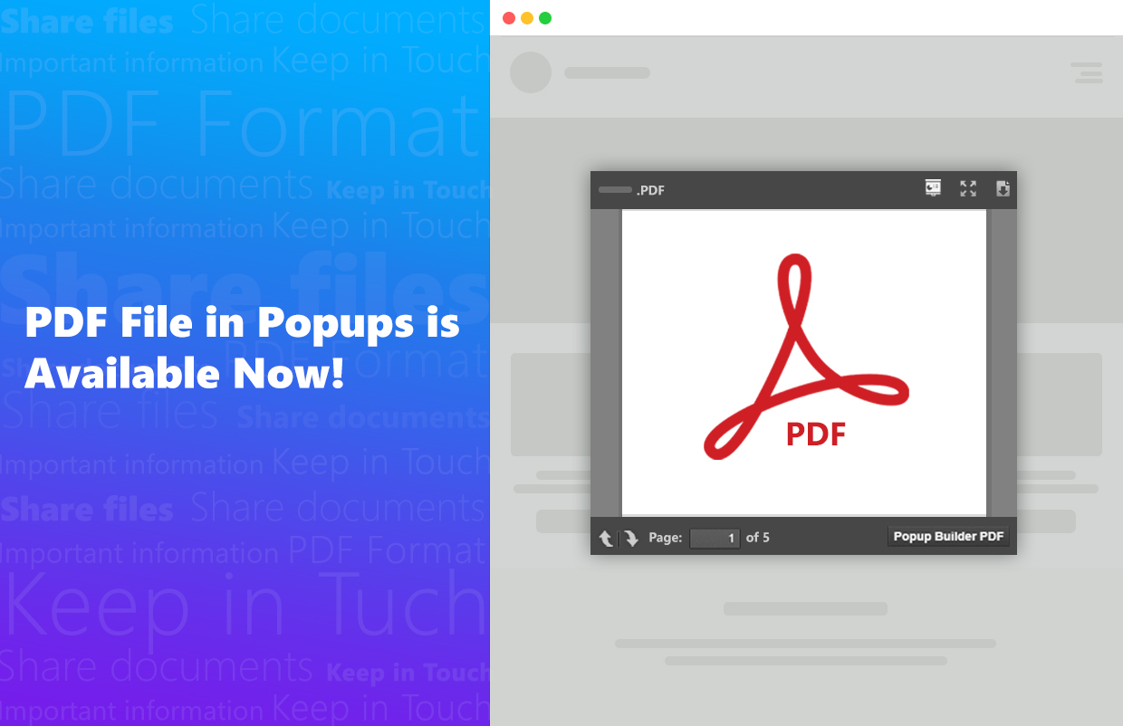 PDF File in Popups is Available Now!
