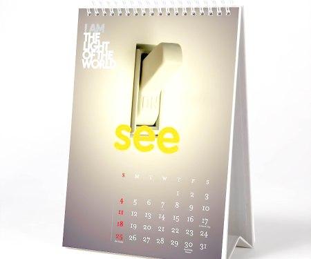 Desktop Calendar - White Boxboard