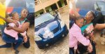 """""""You had one single wrapper just for us to see what to eat"""" – Lady says as she gifts her mom a brand new car (Photos/Videos)"""