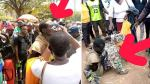 Mother who allegedly lost her son 3 years ago, breaks down in tears as she finds him in the street as a mad man (Photos/Video)