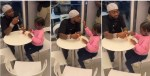Doting dad Davido takes daughter Imade out for an ice cream treat, they feed each other in sweet video