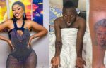 Mercy Eke replies man who drew a tattoo of her face on his body (Photos)