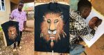 Wow! This is amazing,  See Photos of Beautiful Art Work by a Nigerian Guy.