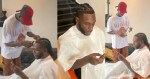 Young Nigerian Barber who gave Burna Boy a stylish haircut reveals how he met the singer