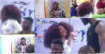 #BBNaija: Queen blows hot, blasts Pere for trying to bully Whitemoney over a pillow ( video)