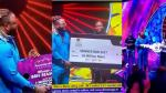 WhiteMoney receives his 30 Million Naira Cheque, keys to his new Lekki house and brand new SUV. (Photos)