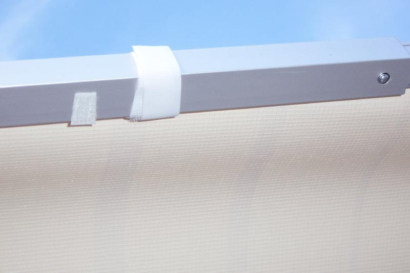 Above Velcro Secures Edge Of The Awning Material To Rafter