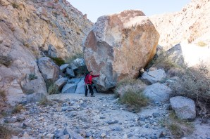 Perspective of how big some of the boulders are.
