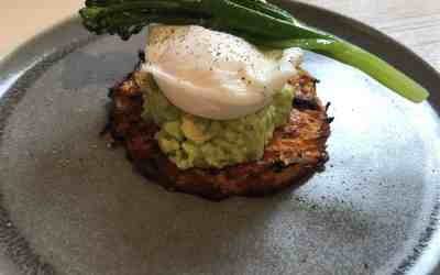 Sweet Potato & Guacamole with Poached eggs