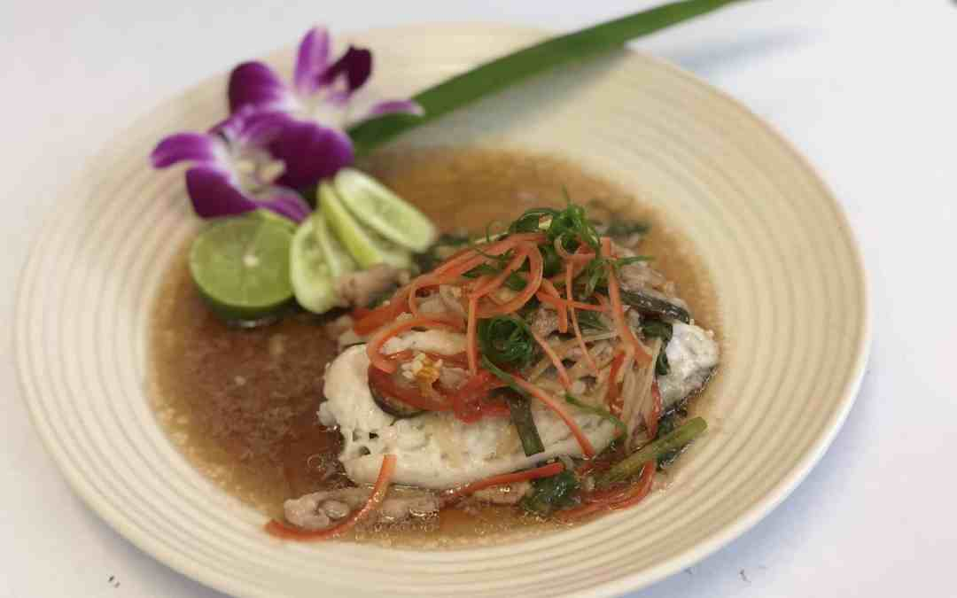 Sea Bass with Ginger sauce