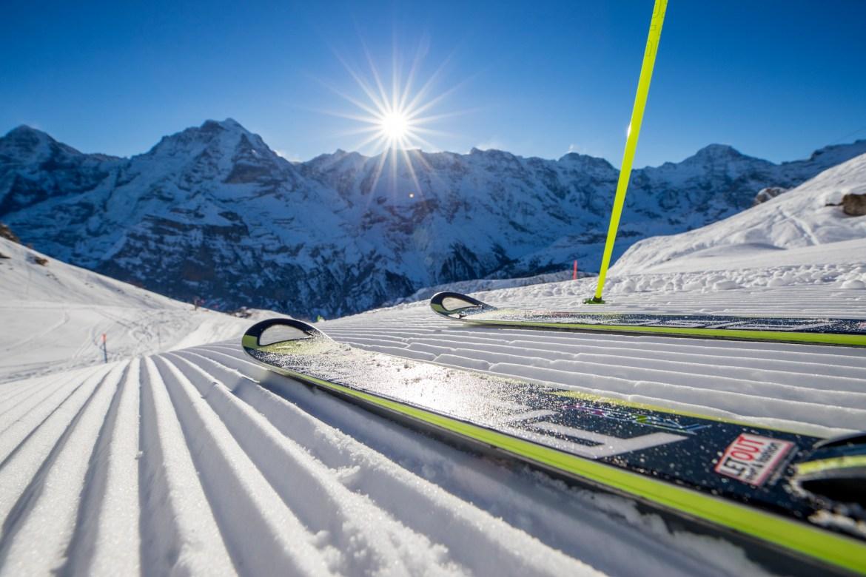 Skifahren am Schilthorn in der Jungfrauregion, Berner Oberland. Aufgenommen am 25.01.2017 im Schilthorngebiet. ©DavidBirri