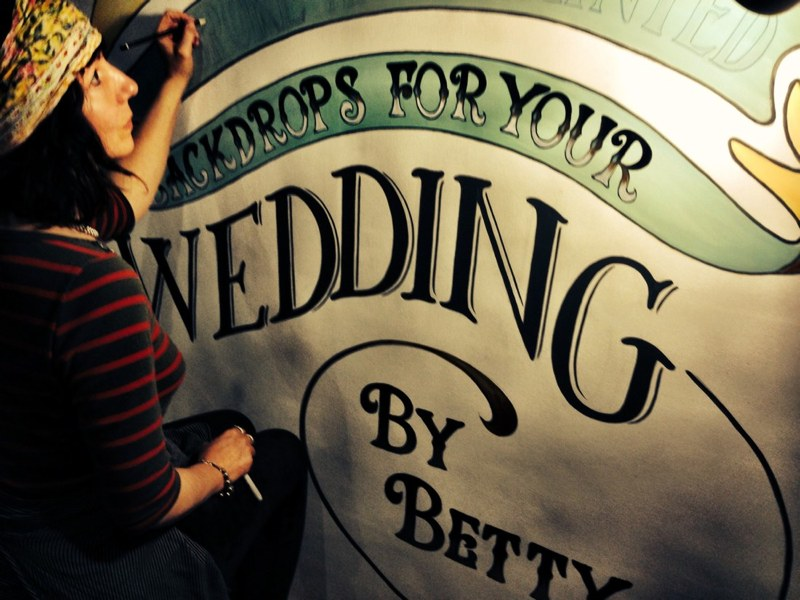 Hand Painted Backdrops by Betty