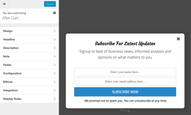 MailOptin WordPress popup plugin.
