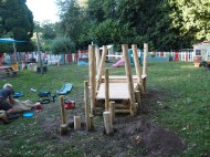 The Cedar decked structure at Acorns Nurseryt