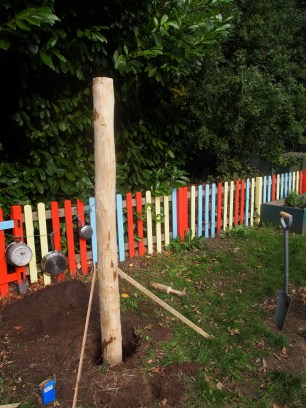 Standing the Chestnut poles