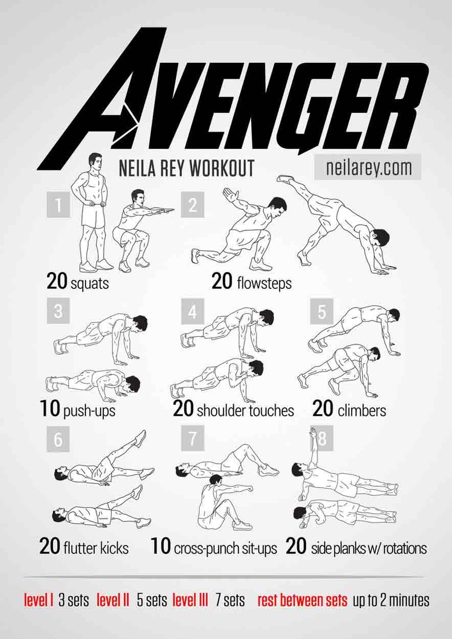 avengers workout bodyweight routine