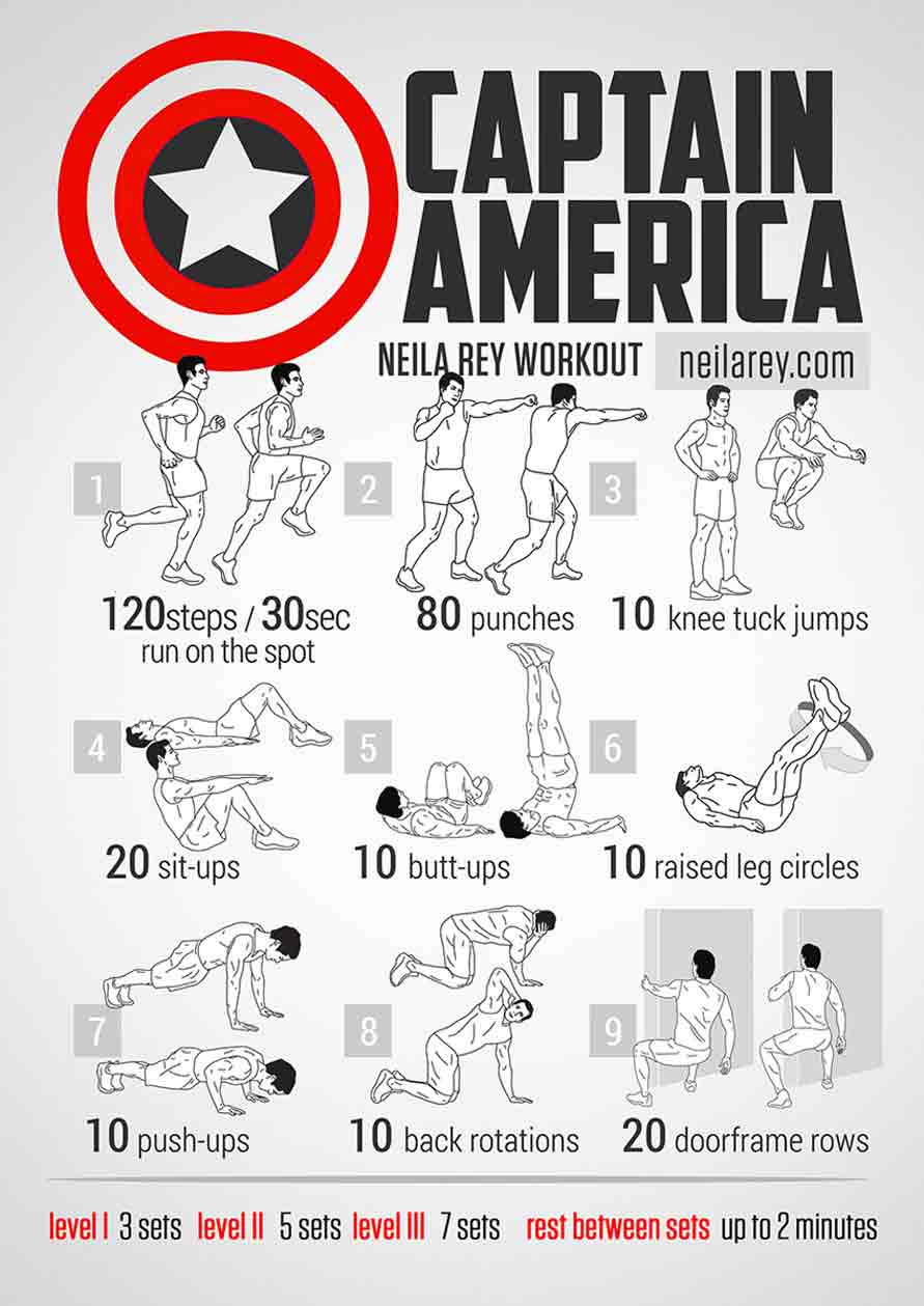 captain america bodyweight workout