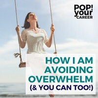 If you act quickly when you feel overwhelm setting in, you can implement at strategy to beat it. In this post I am sharing how I have been avoiding overwhelm - and how you can too!