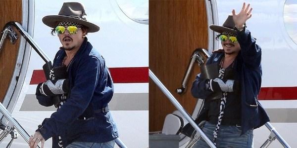 Após acidente em set, Johnny Depp deixa Austrália com tala no braço
