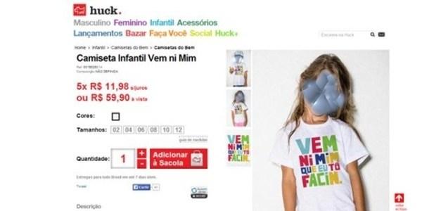 Ministério Público investigará venda de camiseta infantil em site de Huck