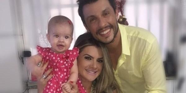 Mirella Santos divulga vídeo da filha com Ceará falando pela 1ª vez