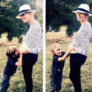 Top model tcheca Karolina Kurkova está grávida de seu segundo filho