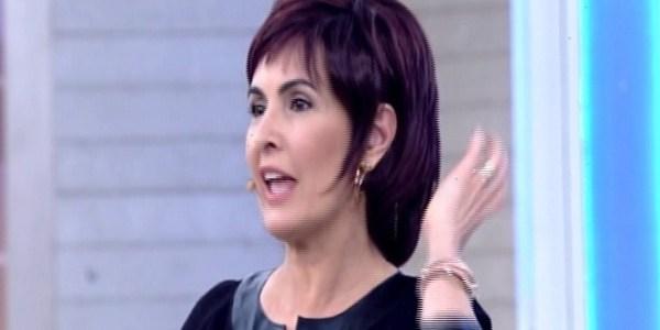 De peruca, Fátima Bernardes lembra quando tinha o cabelo curto