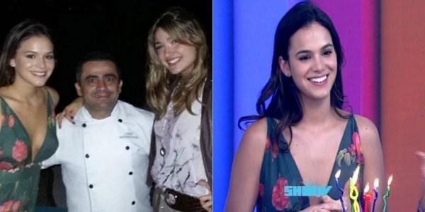 Bruna Marquezine ganha festa na TV e repete roupa do aniversário de Sasha