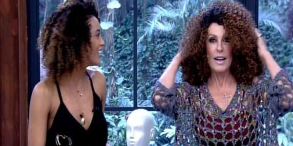 """Ana Maria Braga usa peruca de Taís Araújo no """"Mais Você"""""""