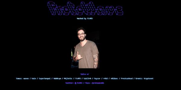 Site oficial de Wanessa é hackeado e foto de Rafinha Bastos publicada