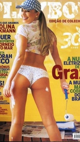 Grazi foi a estrela dos 30 anos de Playboy