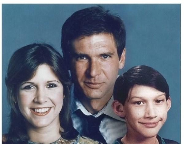 Star Wars: fã faz montagem e mostra retrato de Han Solo e família