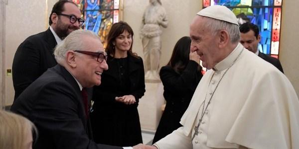 Em momento espiritualizado, Martin Scorsese tem encontro inédito com Papa