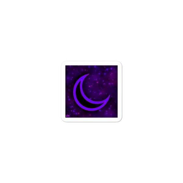 Cosmic moon purple and pink sticker