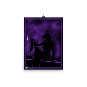 The Mystic lady purple black poster