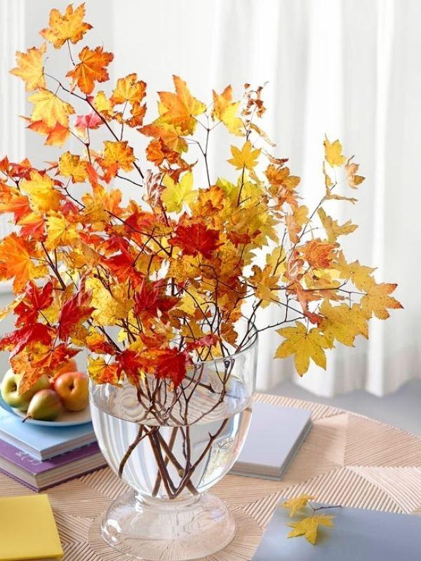15 ideas de decoración con ramas y hojas