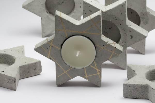 porta-velas de cemento