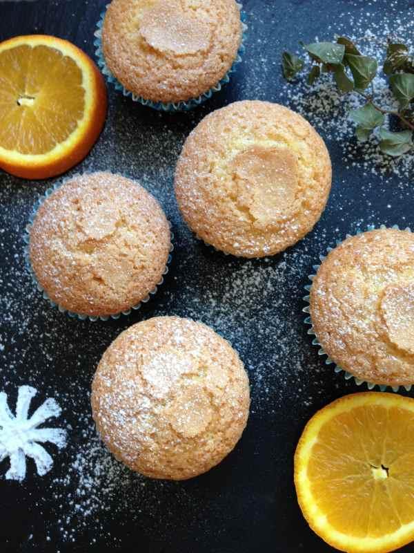 magdalenas de naranja caseras