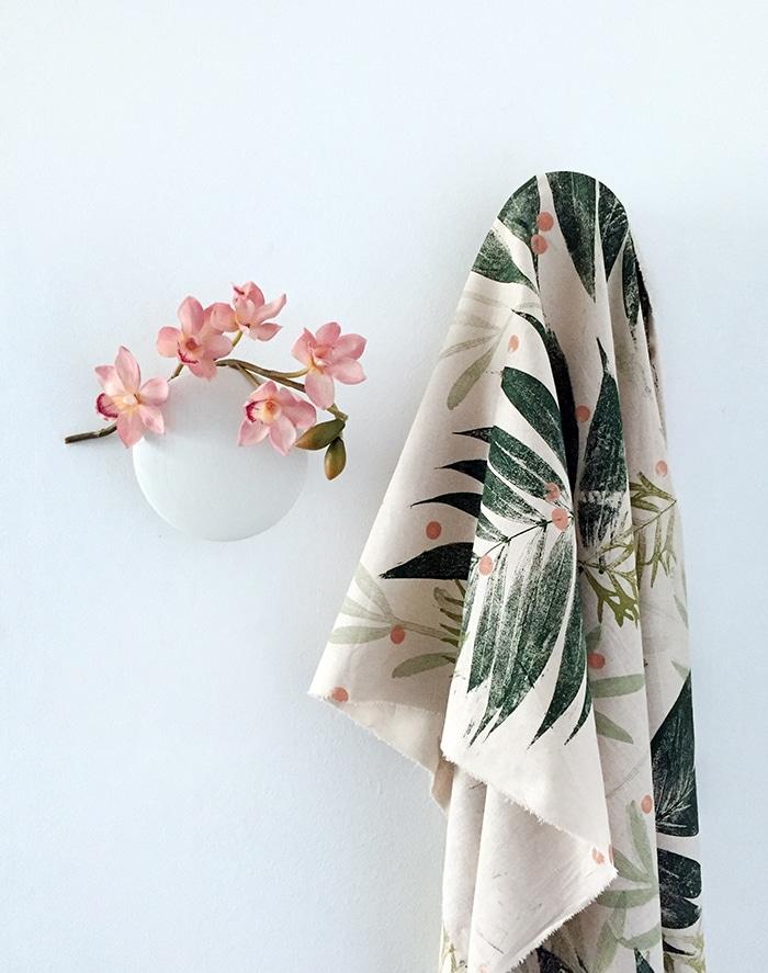 Diy mantel con hojas estampadas muy fácil y bonito
