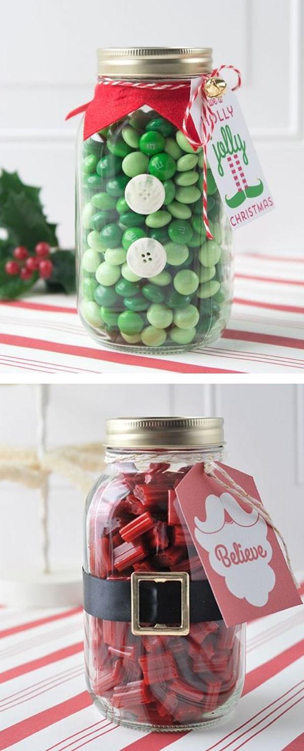 adornos de navidad con frascos 1
