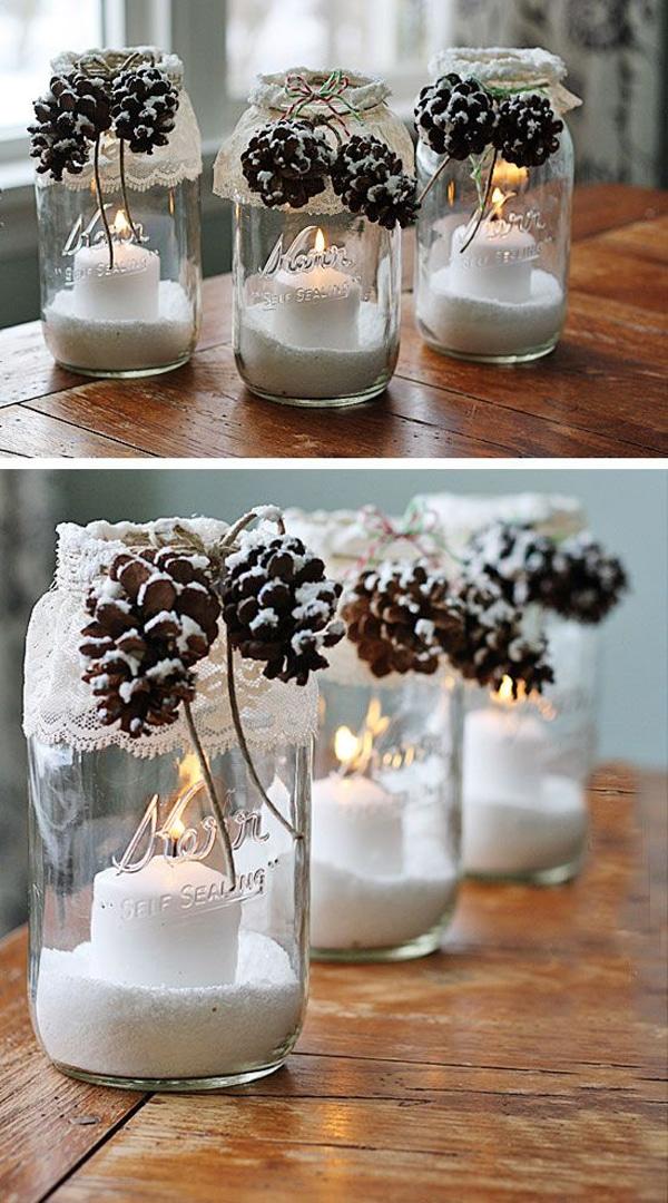adornos de navidad con frascos 3