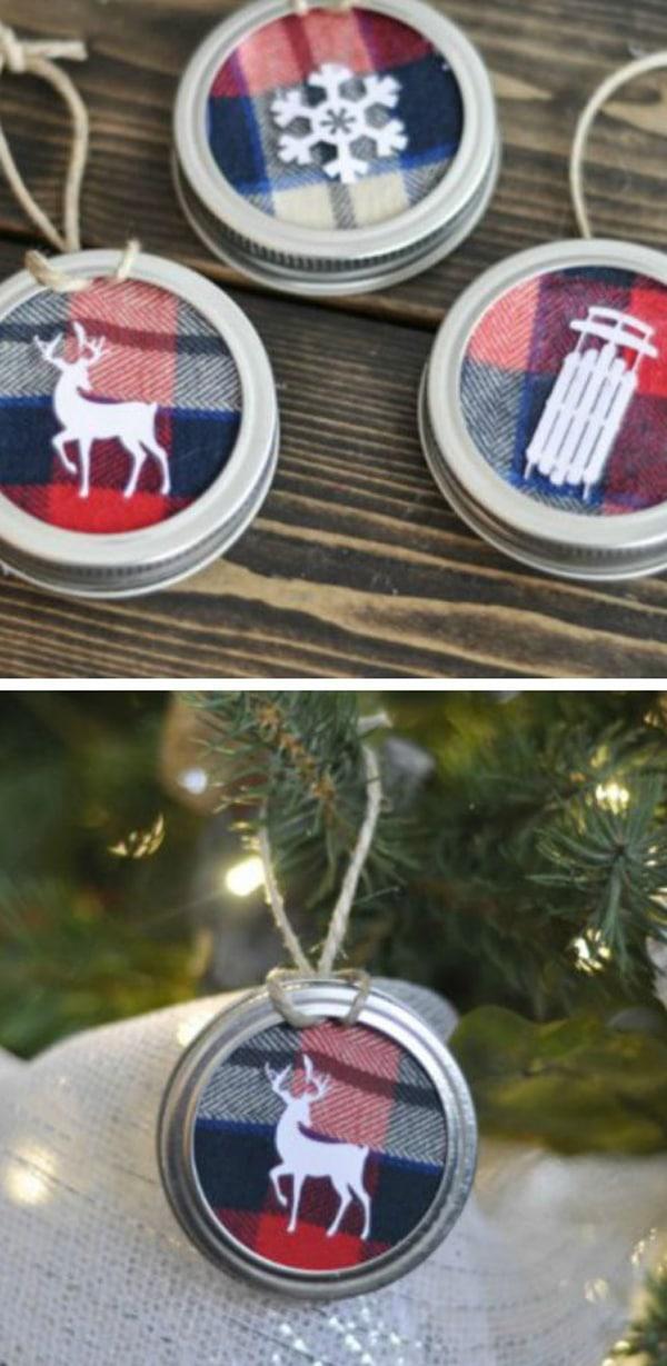 adornos de navidad con frascos 7