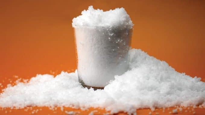 como hacer nieve artificial para niños
