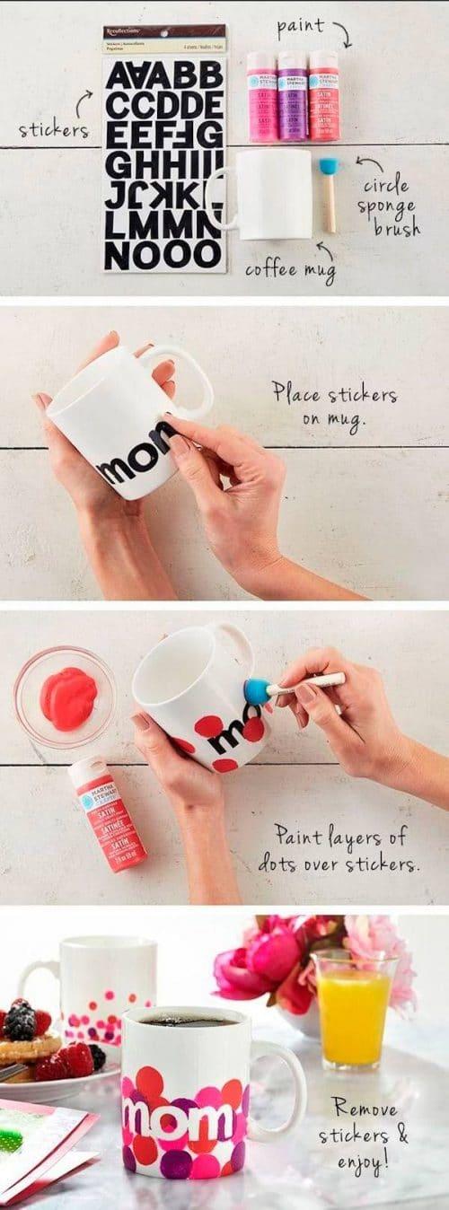 decorar tazas diy